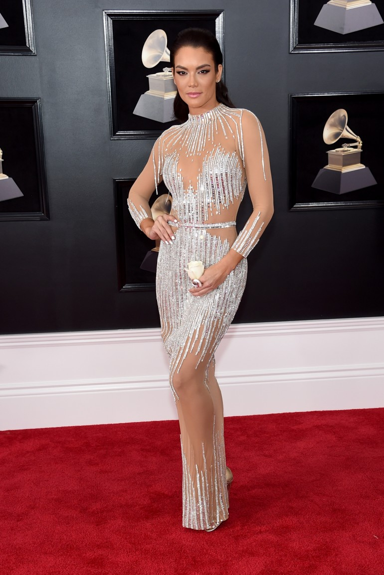 Grammys 2018 Red Carpet Photos: Zuleyka Rivera