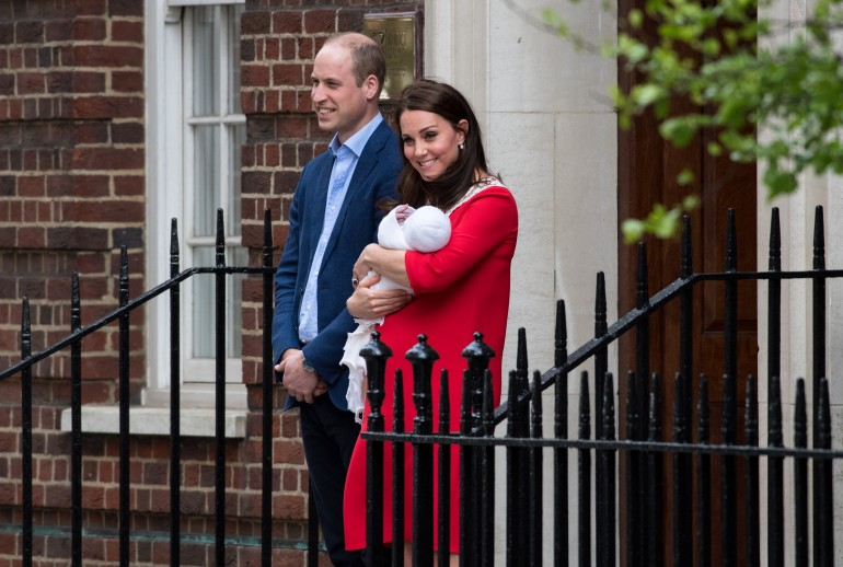 Prince William, Kate Middleton and Prince Louis