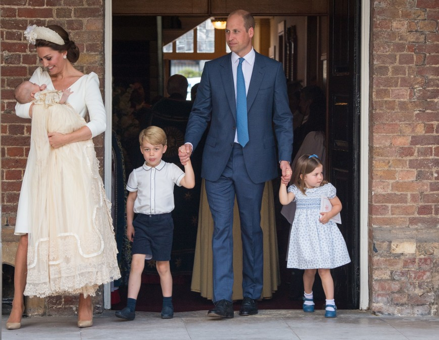 Kate Middleton, Prince Louis, Prince George, Prince William and Princess Charlotte