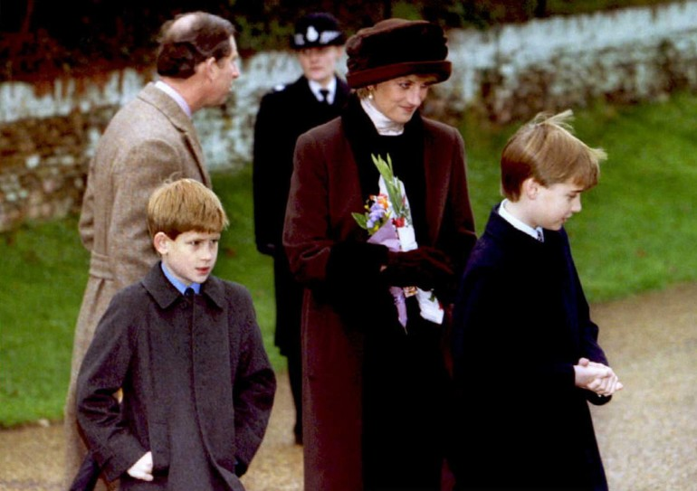 Prince Charles, Prince Harry, Princess Diana and Prince William