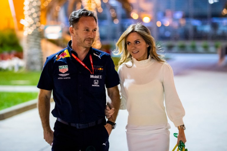 Christian Horner and his wife Geri Halliwell