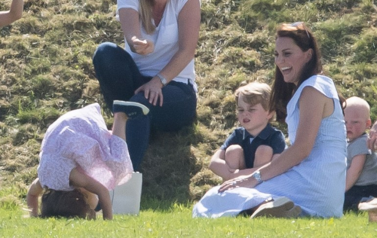 Princess Charlotte, Prince George and Kate Middleton