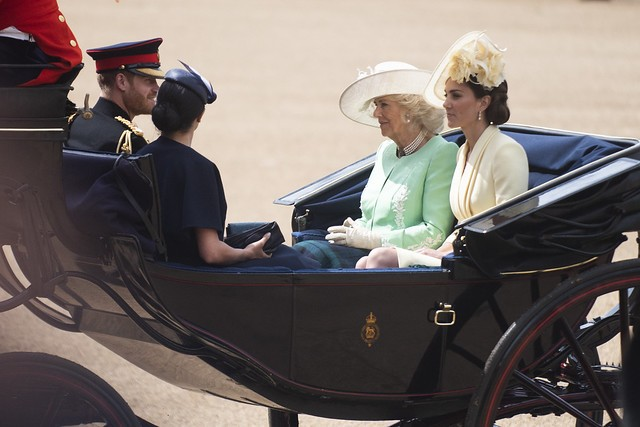 Prince Harry, Meghan Markle, Camilla Parker Bowles and Kate Middleton