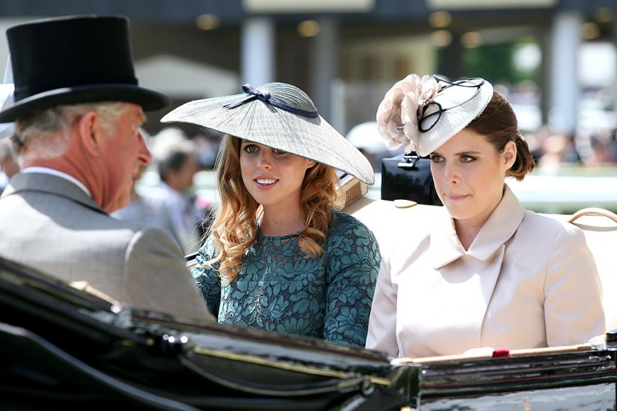 Prince Charles, Princess Beatrice and Princess Eugenie