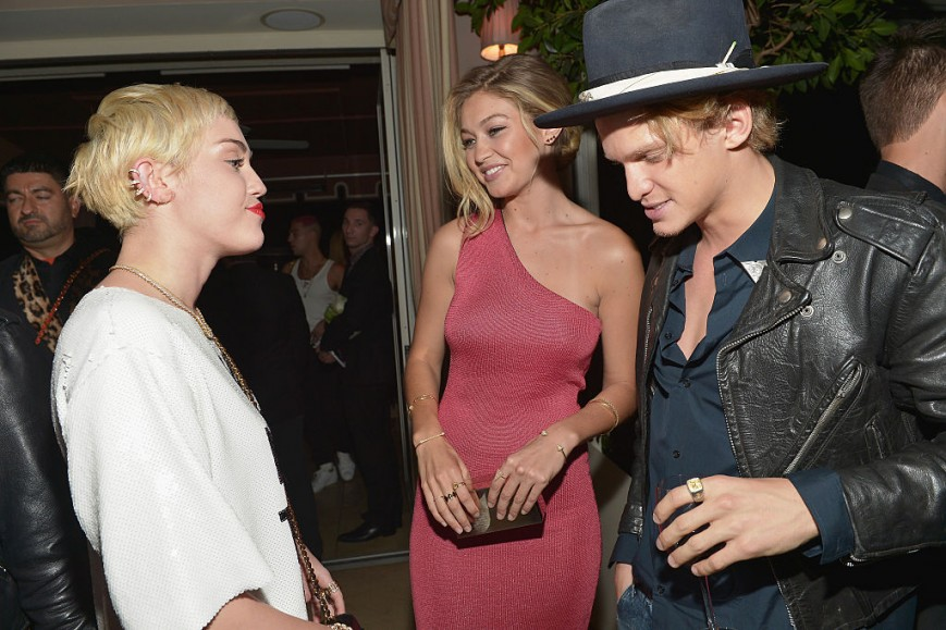 Miley Cyrus, Gigi Hadid and Cody Simpson