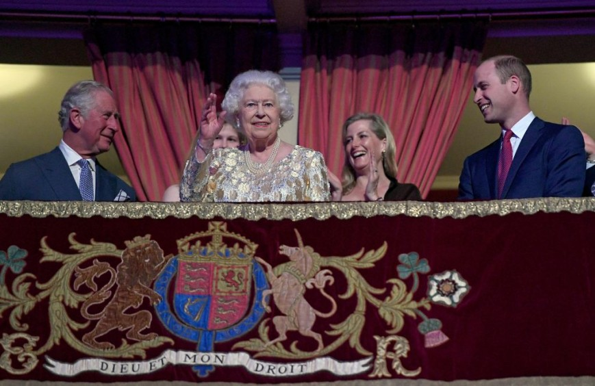 Prince Charles, Queen Elizabeth and Prince William