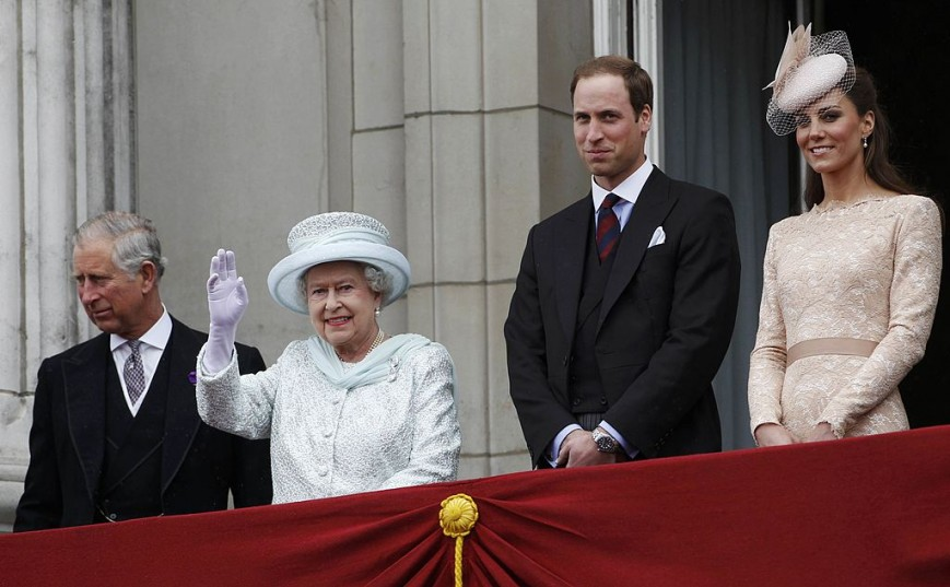 Prince Charles, Queen Elizabeth, Prince William and Kate Middleton