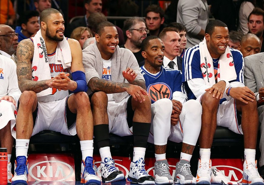 Carmelo Anthony Tyson Chandler JR Smith Marcus Camby Knicks
