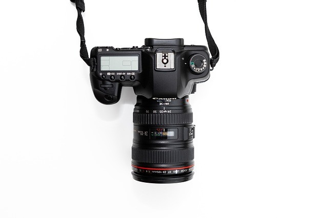 canon camera with lens