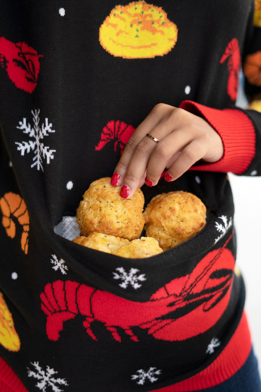 "The Red Lobster Cheddar Bay Biscuit ""Ugly"" Holiday Sweater"