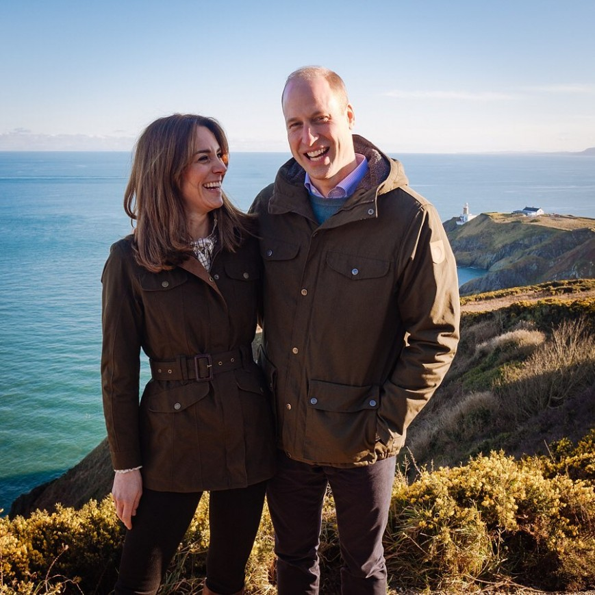 Prince William and Kate Middleton on their recent trip to Ireland