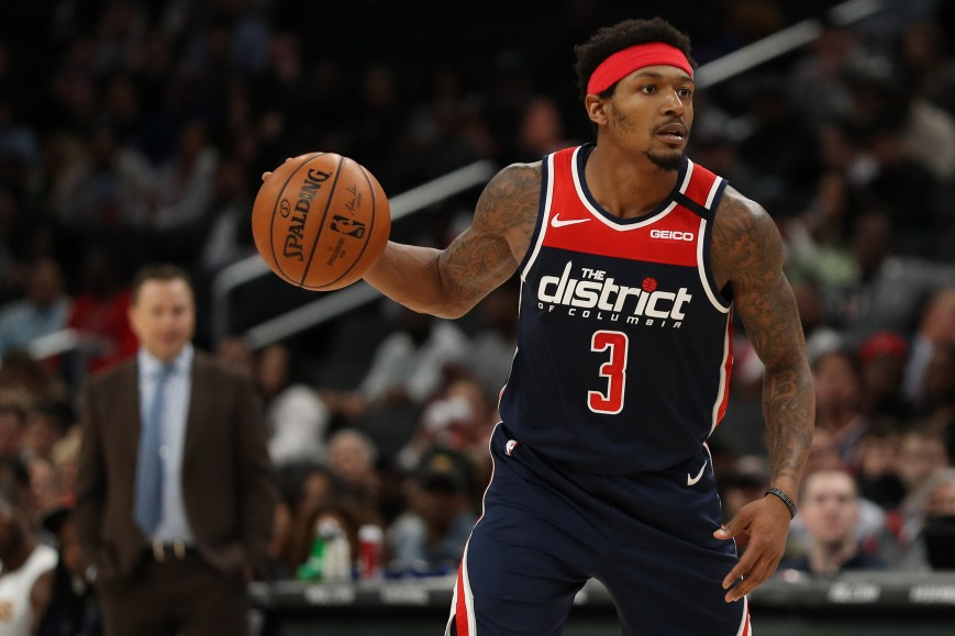 Bradley Beal #3 of the Washington Wizards