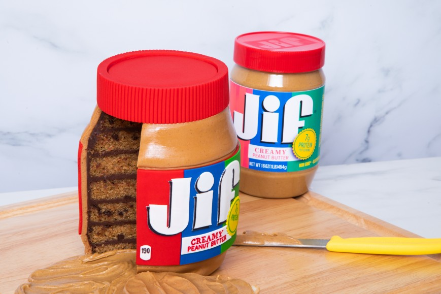 GiantJar of Peanut Butter cake