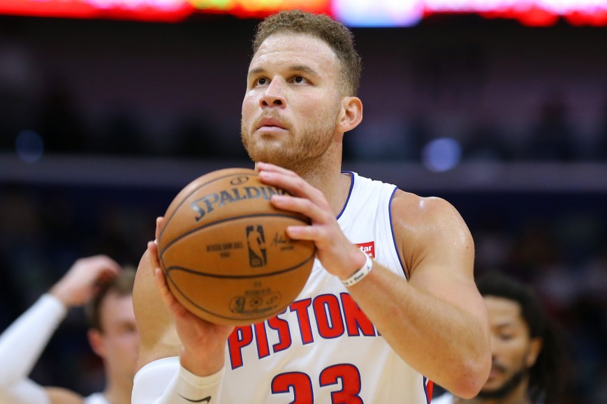 Blake Griffin #23 of the Detroit Pistons