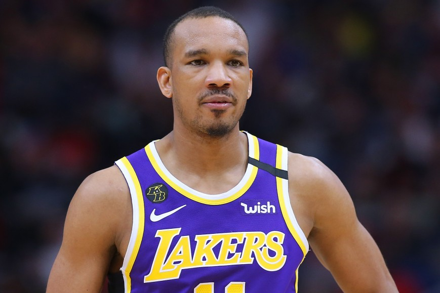 Avery Bradley #11 of the Los Angeles Lakers