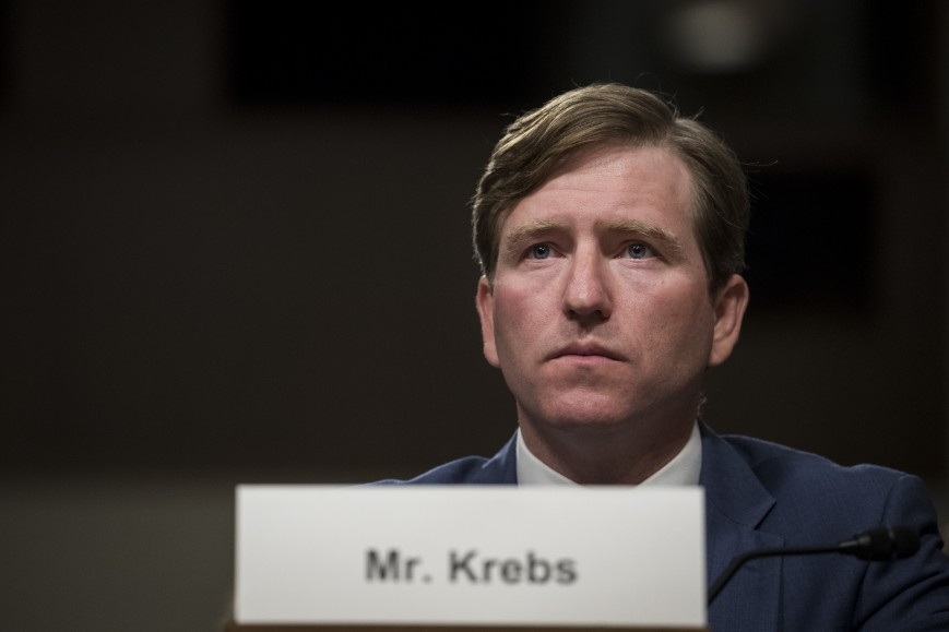 Christopher Krebs, senior official performing the duties of the under secretary for the National Protection and Programs Directorate in the Department of Homeland Security