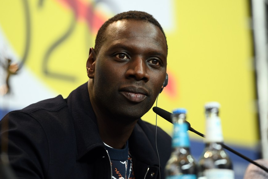 """Omar Sy is seen at the """"Police"""" (Night Shift) press conference"""