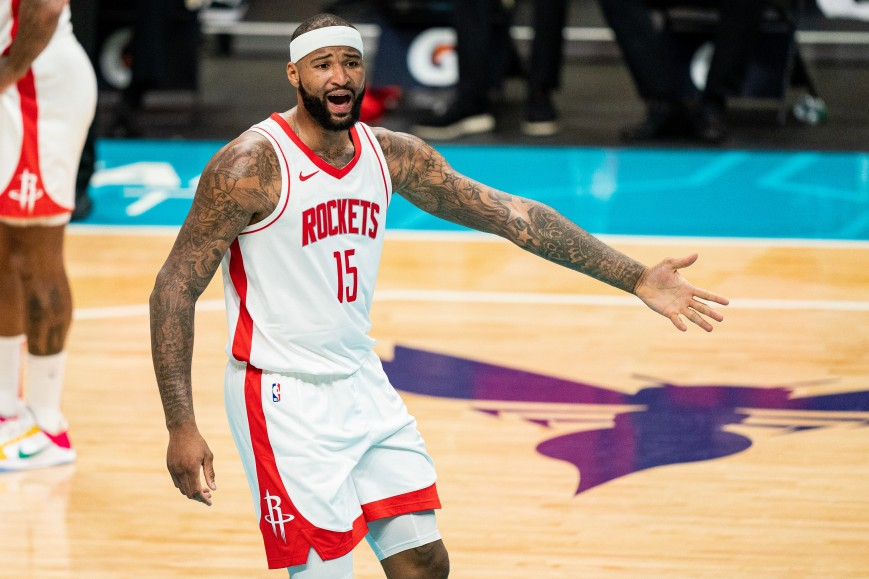 DeMarcus Cousins #15 of the Houston Rockets