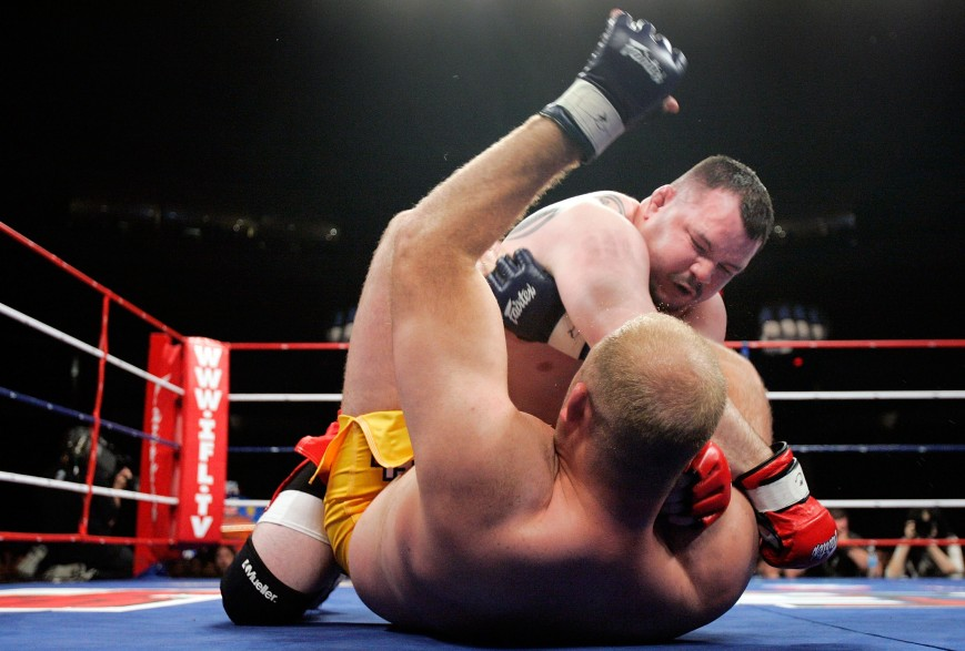 Travis Fulton (TOP) of the Red Bears fights Ben Rothwell