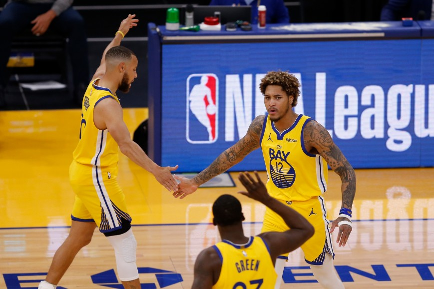 Kelly Oubre Jr. #12 of the Golden State Warriors