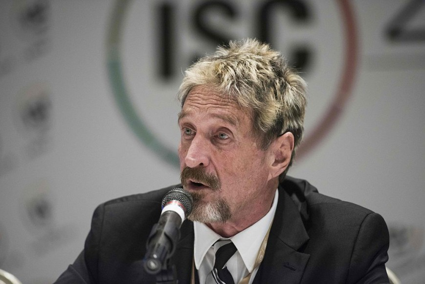 File picture of John McAfee