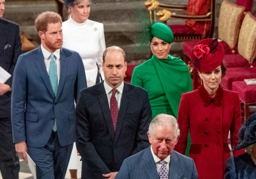 Harry and Meghan with Charles, William and Kate