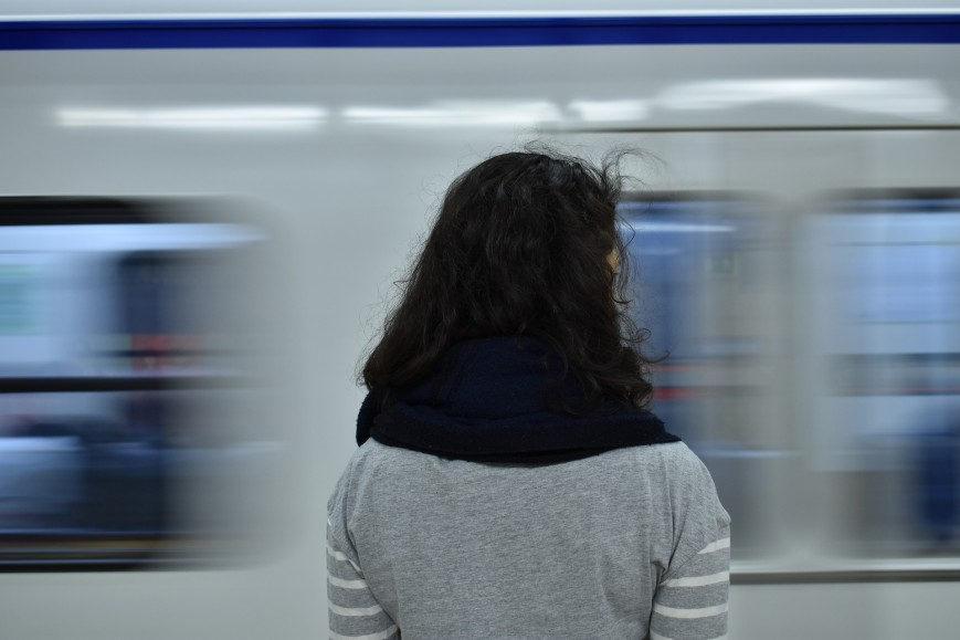Girl in a subway