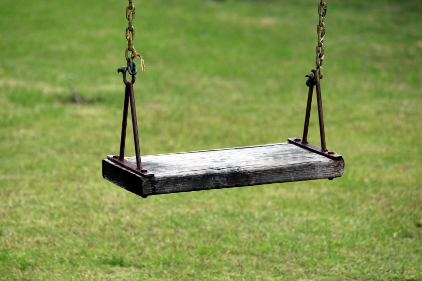 A representational image of a swing.