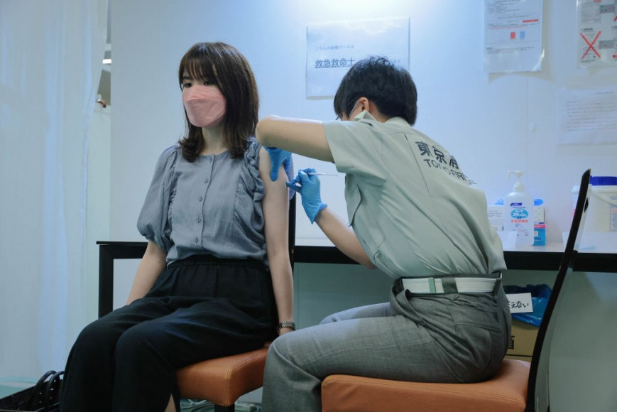 Vaccination drive in Tokyo