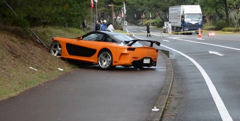 mazda rx7 fast and furious. u0027fast u0026 furiousu0027 mazda rx7 veilside fortune crash 5 people struck in japan after car lost control videos rx7 fast and furious