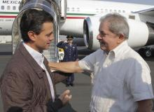 Pena Nieto and Lula in April 2013.