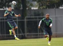 Mexican players practice