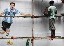 Painting of Messi