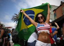 U.S. Fan with Brazilian flag