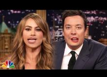 Watch Sofía Vergara Swatch Lips With Jimmy Fallon While Singing Gloria Estefan's 'Conga' In Hilarious Segment