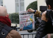 Front page Of French Satirical Paper Charlie Hebdo
