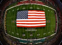 American Flag On The Field