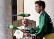 Pope Green Juggler Not St. Patrick's Day