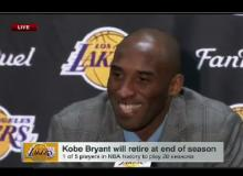 Watch Kobe Bryant's Emotional Post Game Retirement Announcement Press Conference