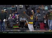 San Antonio Spurs Mascot Catches Bat Dressed Like Batman