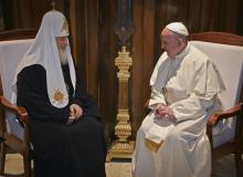 Patriarca Kirill y Papa Francisco