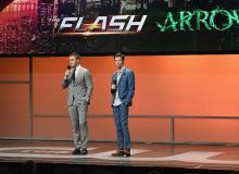 Stephen Amell and Grant Gustin