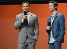 Grant Gustin and Steven Amell