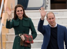The Cambridges arrive in Whitehorse