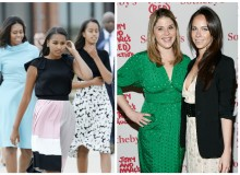 Sasha, Malia Obama and Jenna, Barbara Bush