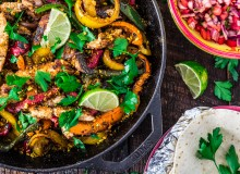 Chicken Fajitas with Crushed Pistachios 1