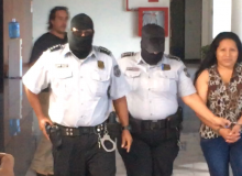 Teodora with police