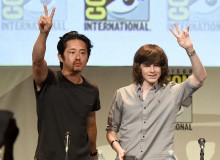 Steven Yeun and Chandler Riggs