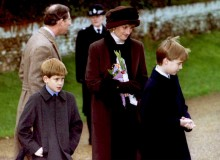 Prince Charles, Princess Diana, and the young Princes William and Harry