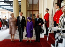 Queen Elizabeth II and Prince Charles with the King and Queen of Netherlands